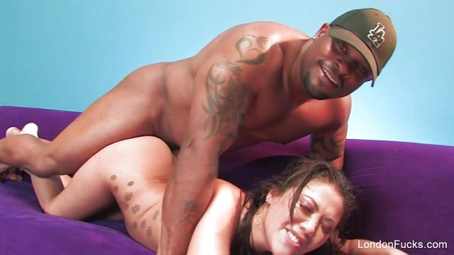 Asian pornstar London gets creampied by a BBC