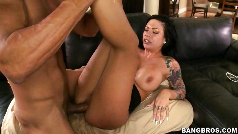 Busty Mason Moore getting her tight pussy rammed by a big dick