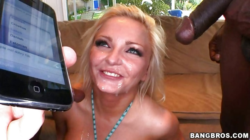 Nasty Nicky Angel loves a mouthful of cum after a hard hot fucking.