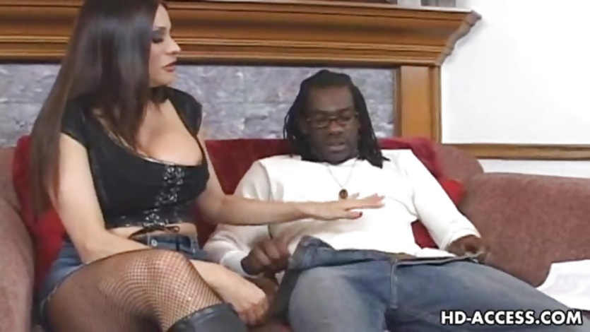 Mature MILF takes on big black cock