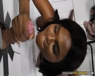 Ebony Yara Skye S First Experience At Gloryhole