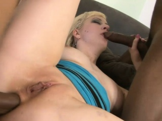 Blonde woman Cherry Torn gets double penetrated by BBC
