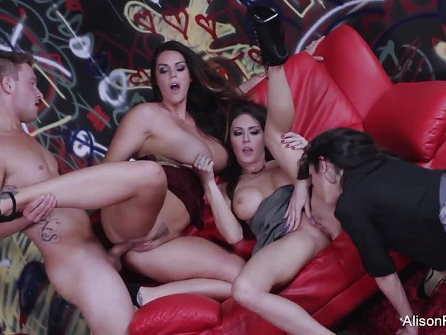 3 hot babes and 1 lucky guy
