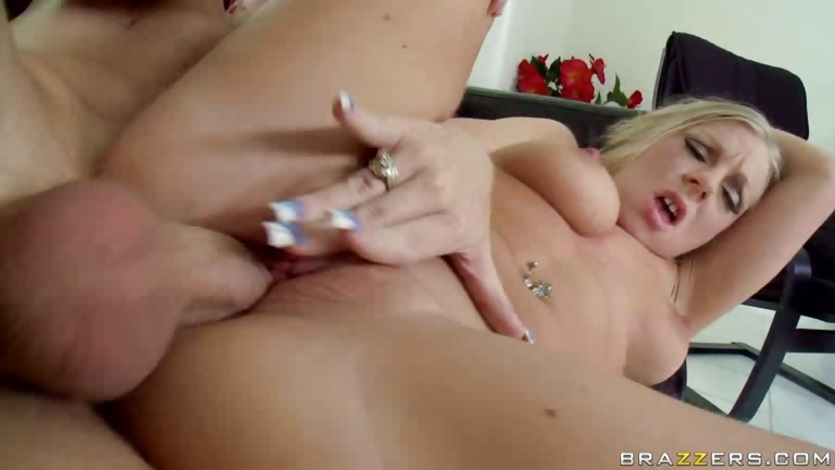 Britney Brooks and her big tits invites a massive dick in her twat