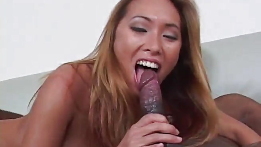 Asian slut ass fuck big black cock interracial anal sex