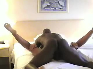 Busty blonde MILF fucked doggystyle on the bed