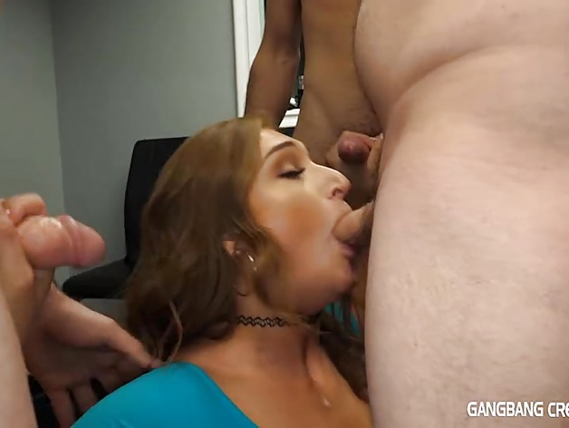 Skylar Snow First Gangbang Squirting and Creampie
