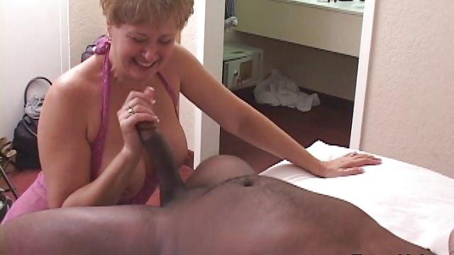 Tracy Licks…..Takes MrNuttz's 9 inch, big, black cock!!