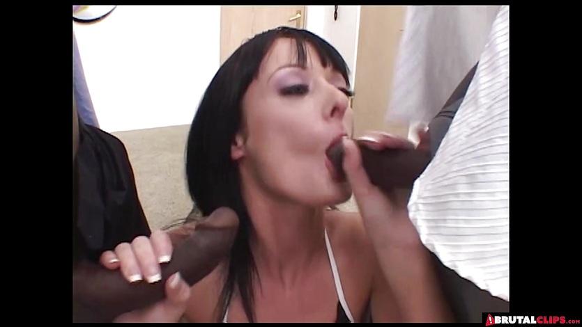 Melissa Lauren gets two big black dicks