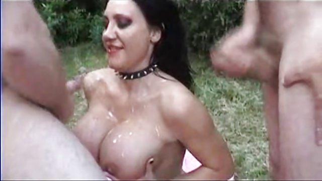 Amateur British Slutwife Outdoor Bareback Creampie Gangbang
