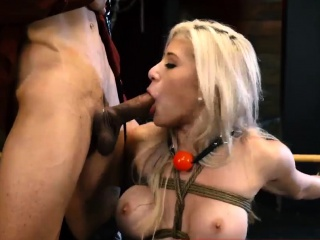 Extreme brutal rough dp gangbang Big-breasted blonde sweetie
