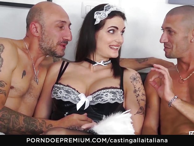 Hot Hardcore Italian anal casting