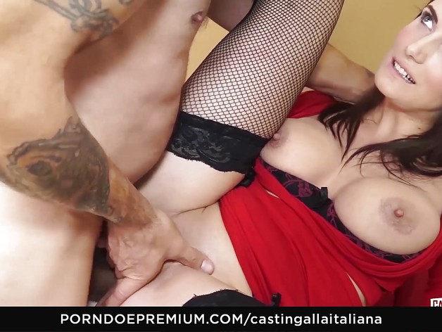 Sexy Busty brunette loves raw anal