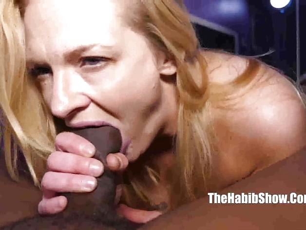 Blonde amateur takes on BBC