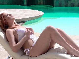 GingerPatch – Hot Ginger Gets Pussy Filled Poolside