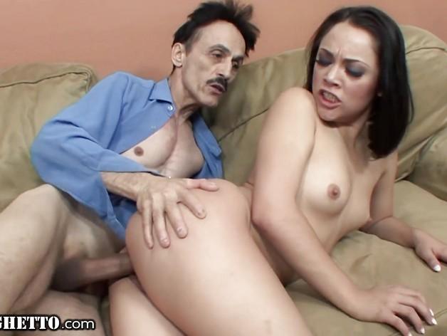 Kinky Old Daddy Gives Latina Teen Step Daughter Cumshot